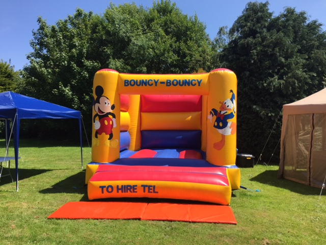 Bouncy Castle in a Mickey Mouse Theme