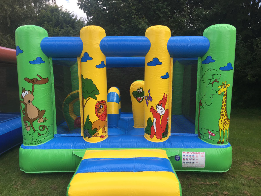 Bouncy Castle in a Jungle Theme