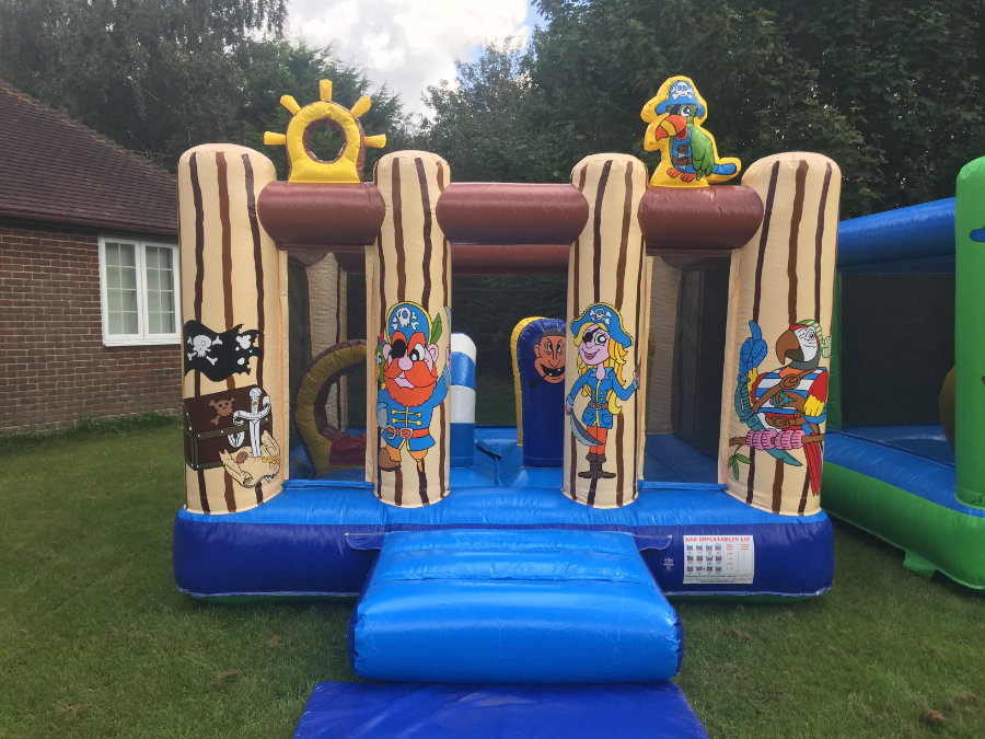 Bouncy Castle In A Pirate Theme